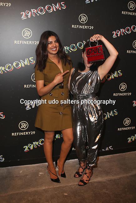 "PRIYANKA CHOPRA and  Piera Gelardi_ Refinery29'S Opening Night of ""29Rooms: Powered by People"" During NYFW Held in Brooklyn, NY"