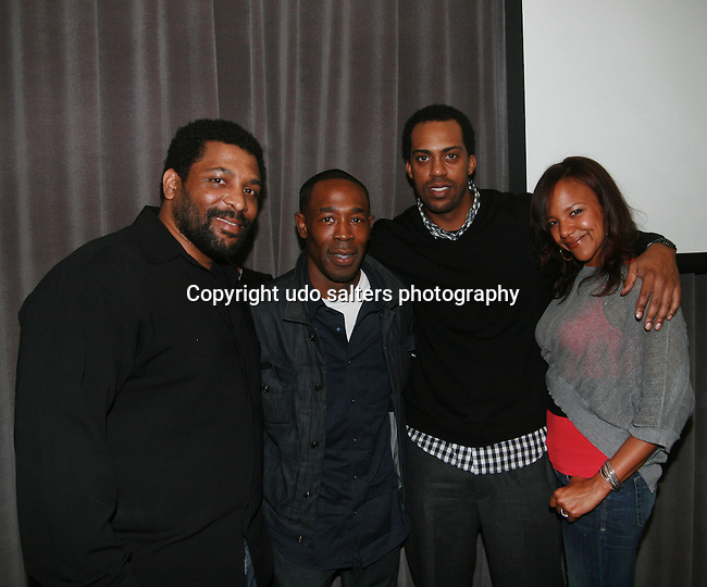 Actors Attika J. Torrence and Rashid Taylor, Director Rodney Lee and Actress Keryn Rose Attend the IFNY Premiere Screening Series featuring SEXTING by Mr. Complex, Starring: Jackie Nova and Duane Cooper - The Absence Of Evidence by Fred Bumaye Starring: Suzanna Klichinsky, Daniel Braver, Yuriy Votyakov, Eric Lawrence - The Troy Shawn Welcome Story by Michael A. Pinckney Starring: Marc John Jefferies and BUMP by Rodney Lee Starring: Rashid Taylor, Keryn Rose and Attika J. Torrence held at the Spike Lee Screening Room - Long Island University - Brooklyn Campus, New York 3/18/11