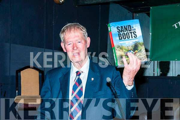 "Beale GAA History Book Launch : Michael O'Muirhertaig launching the history  of the Beale GAA club book  "" Sand in Our Shoes""  at the Cliff House Hotel , Ballybunion on Saturday night last ."