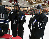 Zach Ledford (Bentley - 20), Jared Rickord (Bentley - 27) - The Harvard University Crimson defeated the visiting Bentley University Falcons 3-0 on Saturday, October 26, 2013, in Harvard's season opener at Bright-Landry Hockey Center in Cambridge, Massachusetts.