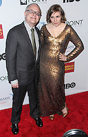 NEW YORK CITY, NY, USA - APRIL 07: Neal Baer, Lena Dunham at the Point Honors New York Gala 2014 held at the New York Public Library on April 7, 2014 in New York City, New York, United States. (Photo by Jeffery Duran/Celebrity Monitor)