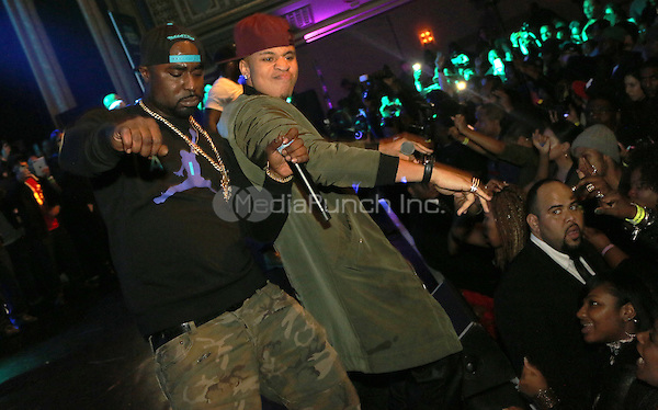 NEW YORK, NY - DECEMBER 18, 2012 50 Young Buck & Rotimi perform at the The Breakfast Club 5th Anniversary, December 18, 2015 at Manhattan Center in New York City. Credit: Walik Goshorn/MediaPunch