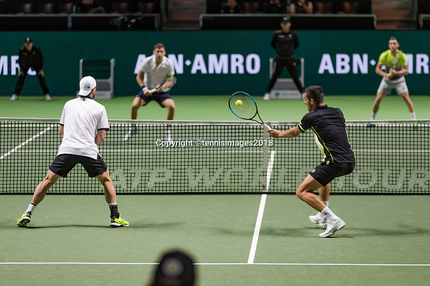 ABNAMRO World Tennis Tournament, 16 Februari, 2018, Rotterdam, The Netherlands, Ahoy, Tennis, Damir Dzumhur (BIH) / Filip Krajinovic (SRB), Mate Pavic (CRO) / Oliver Marach (AUT)<br /> <br /> Photo: www.tennisimages.com