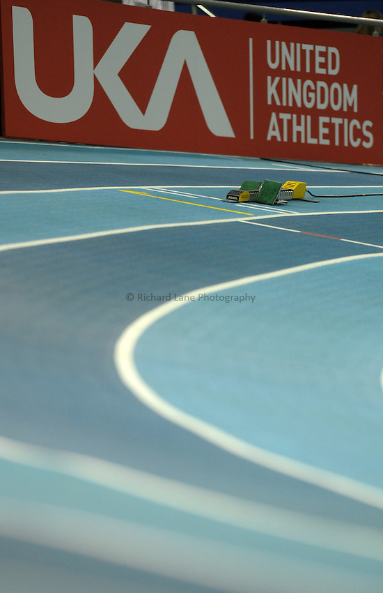 Photo: Ady Kerry / RichardLane Photography.Starting blocks Aviva European Trials & UK Championships Athletics, 14/02/2009