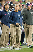 Seattle Seahawks head coach Pete Carroll paces the sideline during second quarter action against the Washington Redskins at FedEx Field in Landover, Maryland on Monday, October 6, 2014.<br /> Credit: Ron Sachs / CNP