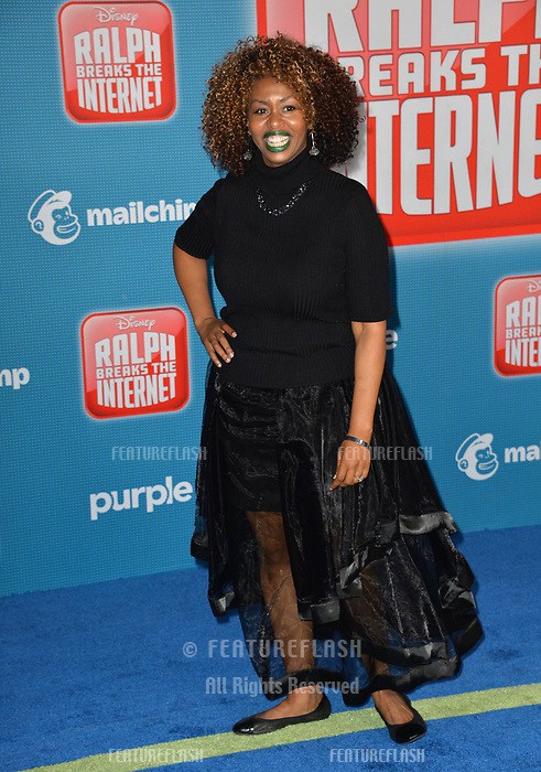 LOS ANGELES, CA. November 05, 2018: GloZell Green at the world premiere of &quot;Ralph Breaks The Internet&quot; at the El Capitan Theatre.<br /> Picture: Paul Smith/Featureflash
