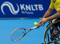 Rotterdam, Netherlands, December 15, 2016, Topsportcentrum, Lotto NK Tennis,  KNLTB racket <br /> Photo: Tennisimages/Henk Koster