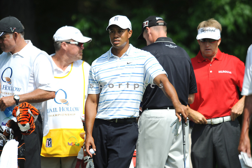 TIER WOODS, during the first round of the Quail Hollow Championship, on April 30, 2009 in Charlotte, NC.