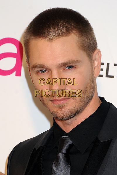 Chad Michael Murray.21st Annual Elton John Academy Awards Viewing Party held at West Hollywood Park, West Hollywood, California, USA..February 24th, 2013.oscars headshot portrait stubble facial hair beard black suit grey gray shiny .CAP/ADM/BP.©Byron Purvis/AdMedia/Capital Pictures.