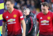 9th February 2019, Craven Cottage, London, England; EPL Premier League football, Fulham versus Manchester United; Manchester Untied Manager Ole Gunnar Solskjaer walking past his Manchester United players