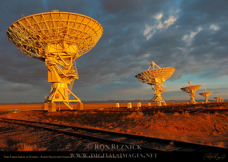 Very Large Array at Sunrise, Radio Telescope Complex, National Radio Astronomy Observatory, Plain of San Agustin, New Mexico