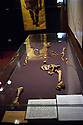 19/02/12. Addis Ababa, Ethiopia. Lucy, the first hominid's bones, in the National Archaeological Museum. Lucy is the common name of AL 288-1, several hundred pieces of bone representing about 40% of the skeleton of an individual Australopithecus afarensis. The specimen was discovered in 1974 at Hadar in the Awash Valley of Ethiopia's Afar Depression. Lucy is estimated to have lived 3.2 million years ago. Photo credit: Jane Hobson