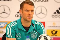 Torwart Manuel Neuer (Deutschland Germany) gehört dem 23-Mann WM-Kader an - 04.06.2018: Pressekonferenz der Deutschen Nationalmannschaft zur WM-Vorbereitung in der Sportzone Rungg in Eppan/Südtirol