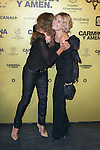 "Spanish singer Lolita and Eurgenia Martinez de Irujo attend the Premiere of the movie ""Carmina y Amen"" at the Callao Cinema in Madrid, Spain. April 28, 2014. (ALTERPHOTOS/Carlos Dafonte)"