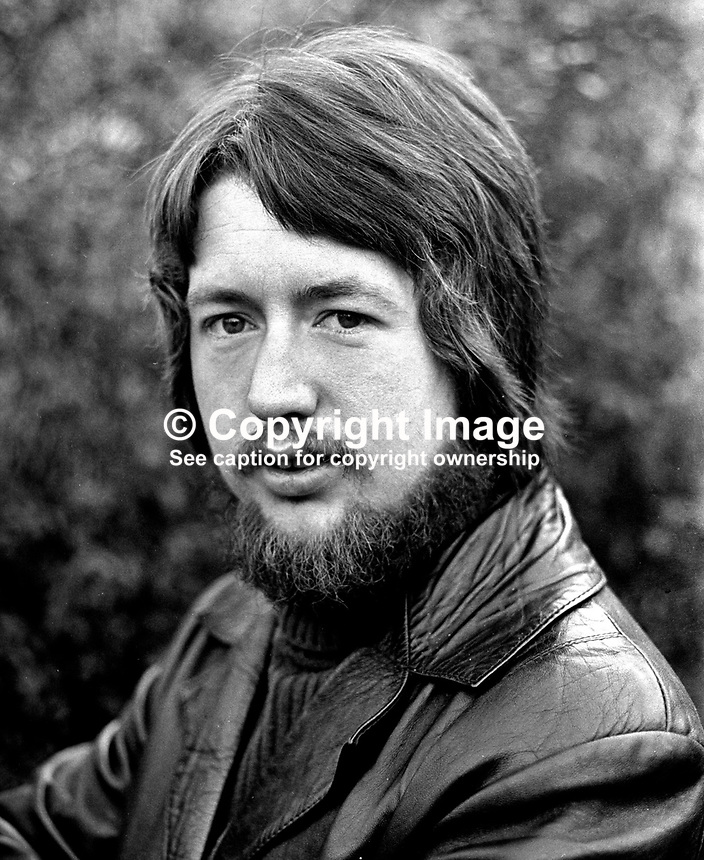 Eugene McVeigh, Coalisland, N Ireland, film cameraman, RTE, 197601210068a..Copyright Image from Victor Patterson, 54 Dorchester Park, Belfast, UK, BT9 6RJ..Tel: +44 28 9066 1296.Mob: +44 7802 353836.Voicemail +44 20 8816 7153.Skype: victorpattersonbelfast.Email: victorpatterson@me.com.Email: victorpatterson@ireland.com (back-up)..IMPORTANT: If you wish to use this image or any other of my images please go to www.victorpatterson.com and click on the Terms & Conditions. Then contact me by email or phone with the reference number(s) of the image(s) concerned.