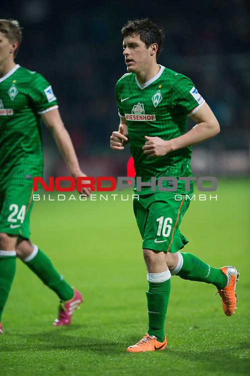 25.03.2014, Weser Stadion, Bremen, GER, 1.FBL, Werder Bremen vs VFL Wolfsburg, im Bild<br /> <br /> Zlatko Junuzovic (Bremen #16)<br /> <br /> Entaeuschung, NIederlage, gestik, Mimik,<br /> <br /> Foto &copy; nordphoto / Kokenge