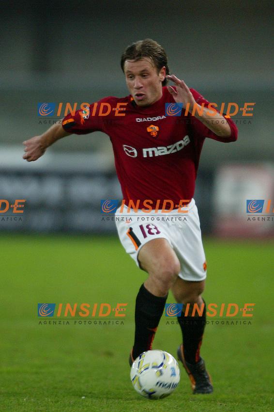 Verona 7 dicembre 2003 <br /> Chievo Roma 0-3<br /> Antonio Cassano (Roma)<br /> Foto Andrea Staccioli Insidefoto