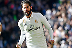 Real Madrid's Isco Alarcon celebrates goal during La Liga match. January 7,2016. (ALTERPHOTOS/Acero)