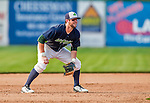 12 July 2015: Vermont Lake Monsters infielder Mikey White in action against the West Virginia Black Bears at Centennial Field in Burlington, Vermont. The Lake Monsters came back from a 4-0 deficit to defeat the Black Bears 5-4 in NY Penn League action. Mandatory Credit: Ed Wolfstein Photo *** RAW Image File Available ****