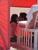 November  08 2012: .Singer Rumer Willis and her boyfriend Jayson Blair spend the day on the sunny beaches of Miami, Florida.Non Exclusive.Mandatory <br />