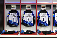 The jerseys of Beno Obano, Tom Dunn and Shaun Knight of Bath Rugby. The Clash, Aviva Premiership match, between Bath Rugby and Leicester Tigers on April 7, 2018 at Twickenham Stadium in London, England. Photo by: Patrick Khachfe / Onside Images