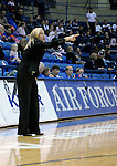 02 February 2008:  Air Force head coach, Ardie McInelly, during the Falcons 67-49 loss to TCU  at Clune Arena, Air Force Academy, Colorado Springs, Colorado.