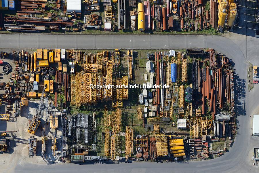 Bauwerkzeuglager: EUROPA, DEUTSCHLAND, HAMBURG, (EUROPE, GERMANY), 21.09.2014: Lagerplatz einer Baufirma,