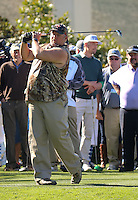 160210 Larry The Cable Guy during the Wednesday Shootout at The AT&T National Pro Am at The Pebble Beach Golf Links in Monterey, California. (photo credit : kenneth e. dennis/kendennisphoto.com)