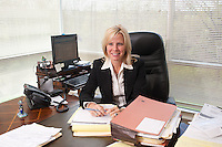4/26/11 9:43:27 AM -- Warrington, Pa. -- Fox Rothschild Attorney Susan Smith at work in her Warrington, Pa. office April 26, 2011. -- Photo by William Thomas Cain/Cain Images for Fox Rothschild.