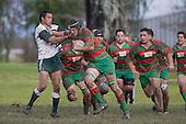 M. Baird is taken by S. Kotoa. Counties Manukau Premier 1 McNamara Cup round 2 rugby game between Manurewa & Waiuku played at Mountfort Park, Manurewa on the 30th of June 2007. Manurewa led 19 - 3 at halftime and went on to win 31 - 3.