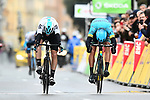 David De La Cruz (ESP) Team Sky outsprints Omar Fraile (ESP) Astana Pro Team to win Stage 8 of the 2018 Paris-Nice running 110km from Nice to Nice, France. 11th March 2018.<br /> Picture: ASO/Alex Broadway | Cyclefile<br /> <br /> <br /> All photos usage must carry mandatory copyright credit (&copy; Cyclefile | ASO/Alex Broadway)