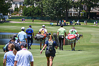 Xander Schauffele (USA), Gary Woodland (USA), and Jon Rahm (ESP) head down 18 during round 1 of the WGC FedEx St. Jude Invitational, TPC Southwind, Memphis, Tennessee, USA. 7/25/2019.<br /> Picture Ken Murray / Golffile.ie<br /> <br /> All photo usage must carry mandatory copyright credit (© Golffile | Ken Murray)