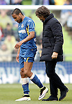 Getafe's Alvaro Pereira injured during La Liga match. April 16,2016. (ALTERPHOTOS/Acero)