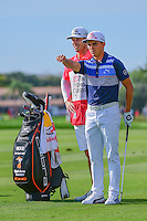 Rickie Fowler (USA) looks over his approach shot on 12 during round 3 of the Honda Classic, PGA National, Palm Beach Gardens, West Palm Beach, Florida, USA. 2/25/2017.<br /> Picture: Golffile | Ken Murray<br /> <br /> <br /> All photo usage must carry mandatory copyright credit (&copy; Golffile | Ken Murray)