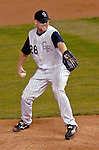 8 September 2006: Aaron Cook, starting pitcher for the Colorado Rockies, on the mound against the Washington Nationals. The Rockies defeated the Nationals 10-5 in a rain-delayed game at Coors Field in Denver, Colorado. ..Mandatory Photo Credit: Ed Wolfstein..