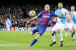 Aleix Vidal of FC Barcelona (L) attempts a kick during the La Liga 2017-18 match between FC Barcelona and Deportivo La Coruna at Camp Nou Stadium on 17 December 2017 in Barcelona, Spain. Photo by Vicens Gimenez / Power Sport Images