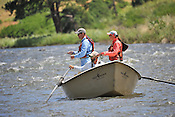 Fishermen & Women floating the Upper Colorado River fishing between Rancho Del Rio and State Bridge on July 11, 2014.