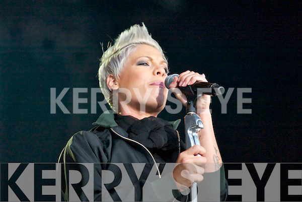 Pink wows the crowd during her concert in Fitzgerald Stadium, Killarney last Saturday night