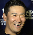 Masahiro Tanaka (Yankees), MARCH 12, 2015 - MLB : New York Yankees starting pitcher Masahiro Tanaka smiles after the Major League Baseball Spring Training game between the Atlanta Braves and New York Yankees at George M. Steinbrenner Field in Tampa, Florida, United States. (Photo by AFLO)