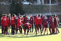 Besprechung im Training - 17.01.2017: Eintracht Frankfurt Training, Commerzbank Arena