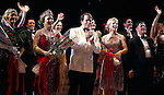 Estelle Parsons, Judy Kaye, Matthew Broderick, Kelli O'Hara & Michael McGrath.during the Broadway Opening Night Curtain Call for  'Nice Work If You Can Get It' at the ImperialTheatre on 4/24/2012 in New York City.