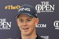 Brandon Stone (RSA) after finishing Thursday's Round 1 of the 148th Open Championship, Royal Portrush Golf Club, Portrush, County Antrim, Northern Ireland. 18/07/2019.<br /> Picture Eoin Clarke / Golffile.ie<br /> <br /> All photo usage must carry mandatory copyright credit (© Golffile | Eoin Clarke)