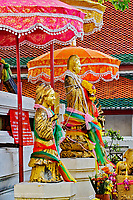 Figures at Wat Pho, the oldest temple in Bangkok, Thailand