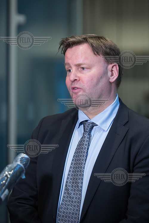 Espen Rostrup Nakstad, the assistant director of Norway's Directorate of Health talking to reporters. <br /> <br /> Press conference with Prime Minister Erna Solberg, Minister of Health Bent Høie to present the Corona commission, led by Stener Kvinnsland. <br /> <br /> <br /> Norwegian authorites introduced strict measures to combat the Coronavirus (COVID-19) in March 2020. <br /> <br /> <br /> ©Fredrik Naumann/Felix Features<br /> <br /> <br /> Pressekonferanse om koronakrisen og den nyoppnevnte Koronakommisjonen<br /> Statsminister Erna Solberg og helse- og omsorgsminister Bent Høie inviterer til pressekonferanse sammen med lederen for den nyoppnevnte Koronakommisjonen, Stener Kvinnsland.
