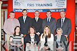 The FRS Training Limited who presented graduates from all over Kerry their Fetec 5 healthcare course certificates in the River Island Hotel, Castleisland on Friday evening front row l-r: Janes Marks, Mairead Hickey, Miriam Ryan, Noreen Lucey. Back row: Dan Hickey, Jim Dockery, John Brosnan, Donal Broderick and Peter Byrne....