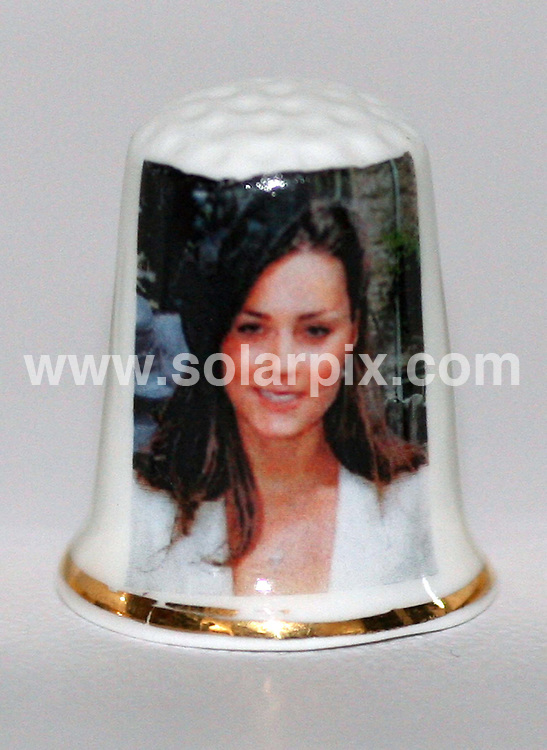**ALL ROUND PICTURES FROM SOLARPIX.COM**.**NO UK NEWSPAPER PUBLICATION **UK MAGAZINE & SUPPLEMENT PUBLICATION ONLY** AND NO PUBLICATION IN FRANCE, SCANDINAVIA, AUSTRALIA AND GERMANY** .Kate Middleton thimbles - You know when you've made it into the royal circle when there is a thimble of you. Birchcroft China in Stoke On Trent have begun producing limited edition Kate Middleton thimbles which they sell for £4.40 a set.  Each fine china thimble has a transfer of Prince William's girlfriend. All thimbles are produced in limited runs and limited to less than 500 sets Worldwide...JOB REF: 7174 SFE       DATE: 01_09_2008.**MUST CREDIT SOLARPIX.COM OR DOUBLE FEE WILL BE CHARGED* *UNDER NO CIRCUMSTANCES IS THIS IMAGE TO BE REPRODUCED FOR ANY ONLINE EDITION WITHOUT PRIOR PERMISSION*