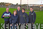 L-r: Fergus Carroll, Mary Jo Murphy, Monty Leahy, Fiona Casey and Conor Diggin.