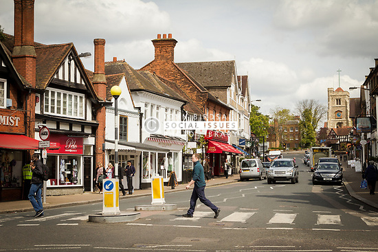 Pinner High Street, London Borough of Harrow North West London UK