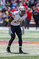 College Park, MD - April 27, 2019:  Maryland Terrapins defensive back Antoine Brooks, Jr. (25) in action during the spring game at  Capital One Field at Maryland Stadium in College Park, MD.  (Photo by Elliott Brown/Media Images International)