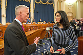 United States Representative Trey Gowdy (Republican of South Carolina), Chairman, US House Select Committee on Benghazi speaks with Huma Abedin, a close aide to former US Secretary of State Hillary Rodham Clinton, a candidate for the 2016 Democratic Party nomination for President of the United States, during a break in the testimony before the US House Select Committee on Benghazi on Capitol Hill in Washington, DC on Thursday, October 22, 2015.<br /> Credit: Ron Sachs / CNP<br /> (RESTRICTION: NO New York or New Jersey Newspapers or newspapers within a 75 mile radius of New York City)